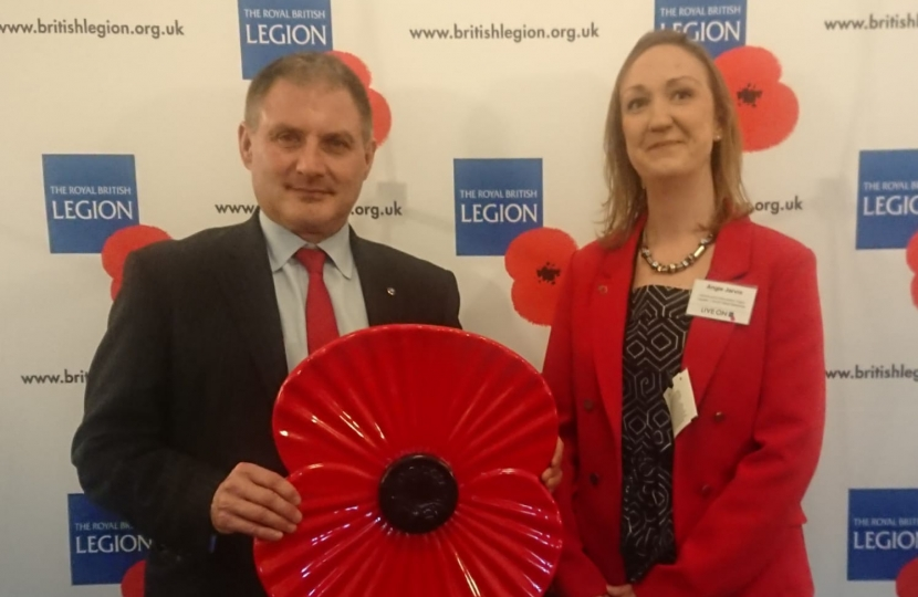Jack Lopresti MP at the RBL Reception in the House of Commons