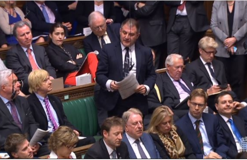 Jack Lopresti MP asking a question in PMQs