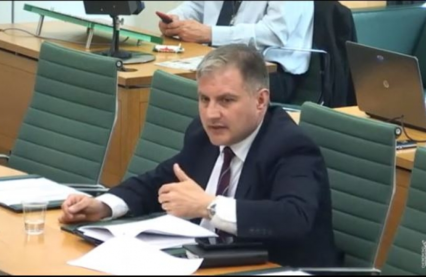 Jack Lopresti MP during the Welsh Affairs session on the Armed Forces in Wales
