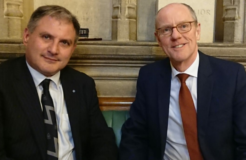 Jack Lopresti MP with Schools Minister Nick Gibb MP