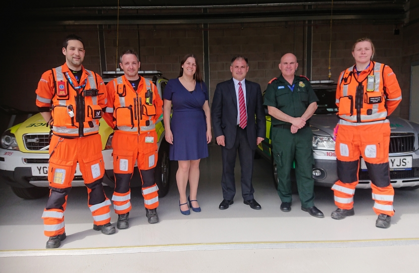 Visiting the Great Western Air Ambulance Base in Almondsbury