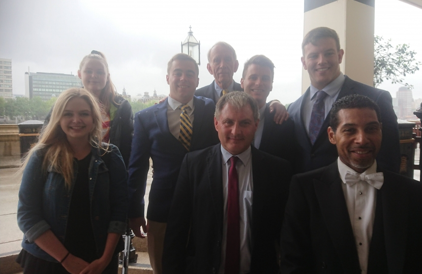 Jack Lopresti MP meets US Troops visiting Parliament