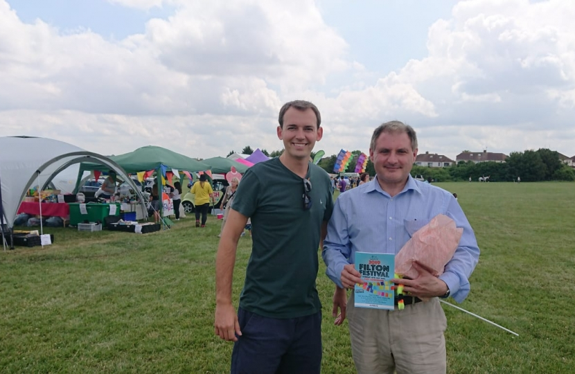 Jack Lopresti MP and Cllr Chris Wood