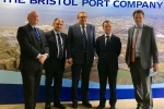 Mayor Tim Bowles, Jack Lopresti MP, Chairman of the Bristol Port Board, Secretary of State for Wales and CEO Bristol Port